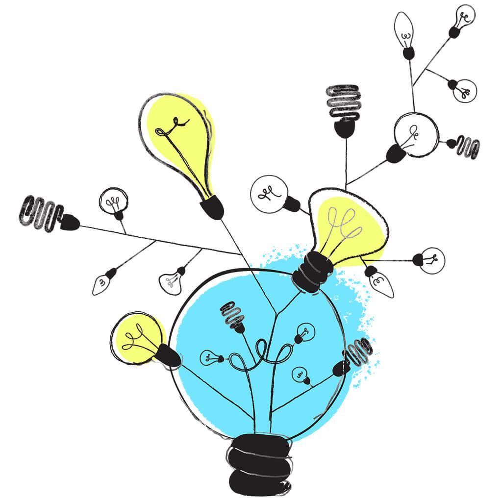 Ideen können wachsen und neue Ideen hervorbringen.